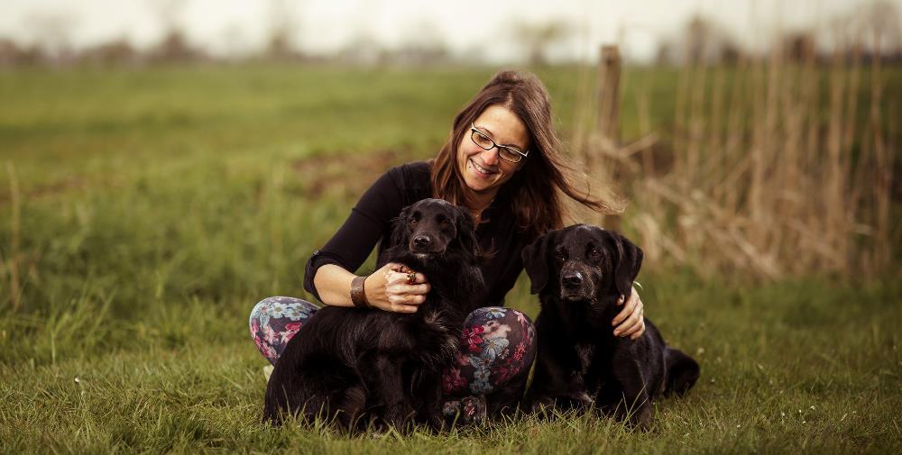 Birthe Block mit ihren Hunden