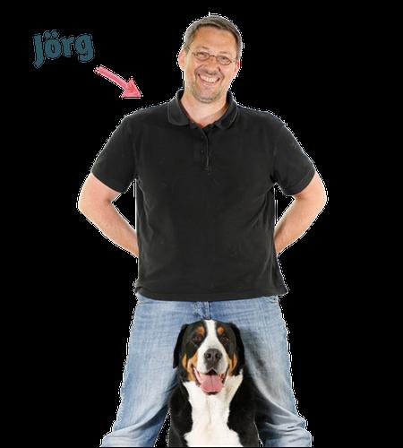 Jörg Ziemer mit Hund Whopper Profilbild