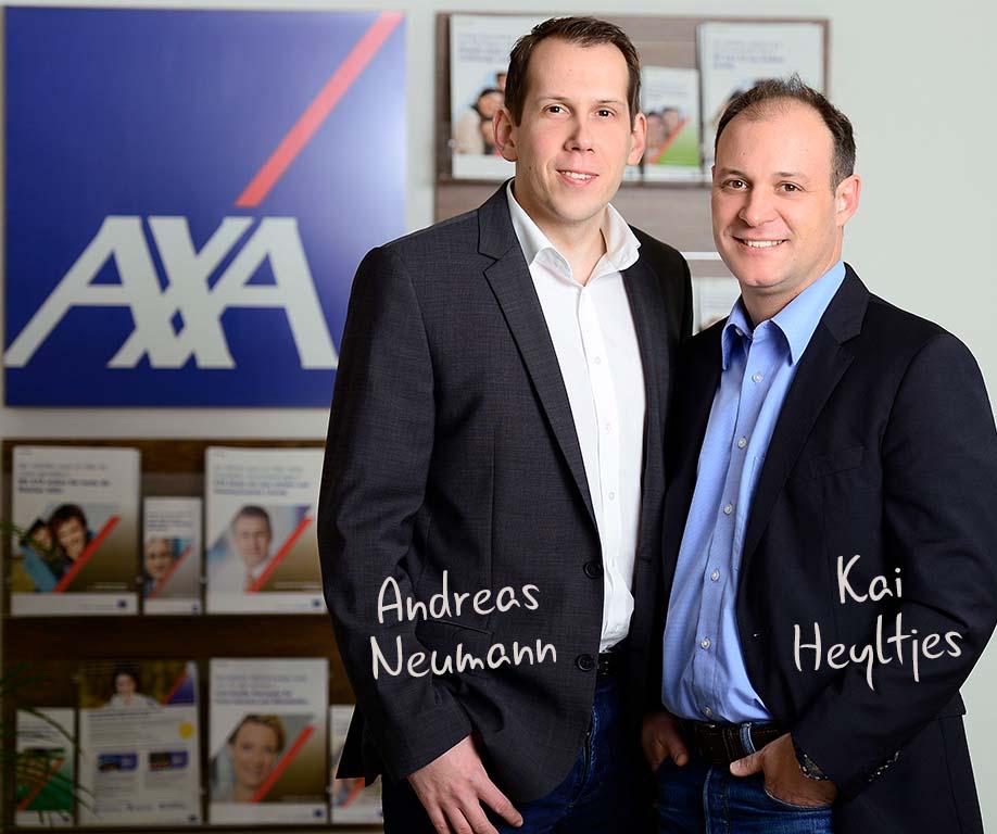 Kai Heyltjes und Andreas Neumann von der AXA