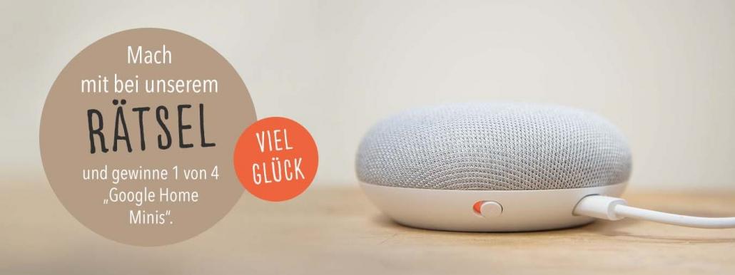 Hunderätsel mitmachen und Google Home Mini gewinnen