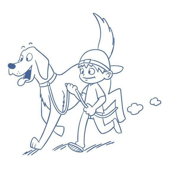 illustration-hund-und-kind
