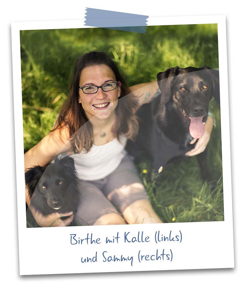 Birthe mit Hund Kalle und Hund Sammy