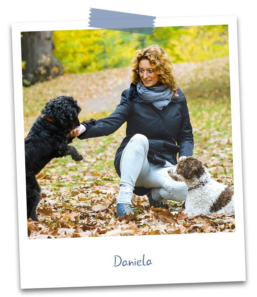 Daniela mit Hunden
