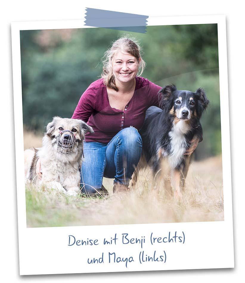 Denise mit Maya und Benji