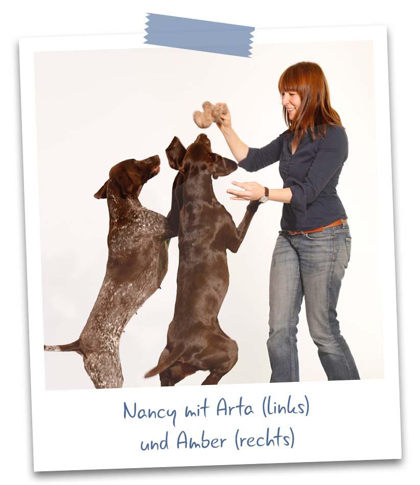 Nancy mit Arta und Amber