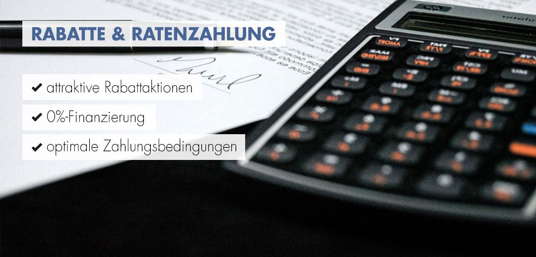 Rabatte & Ratenzahlung Startbild