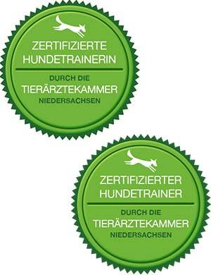 Siegel für zertifizierte Hundetrainer in NDS und SH