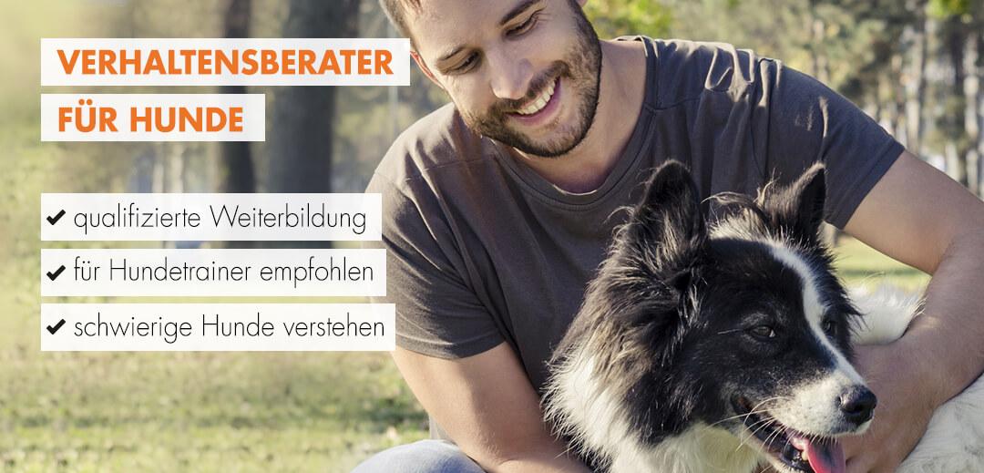Verhaltensberater für Hunde Typ mit Hund
