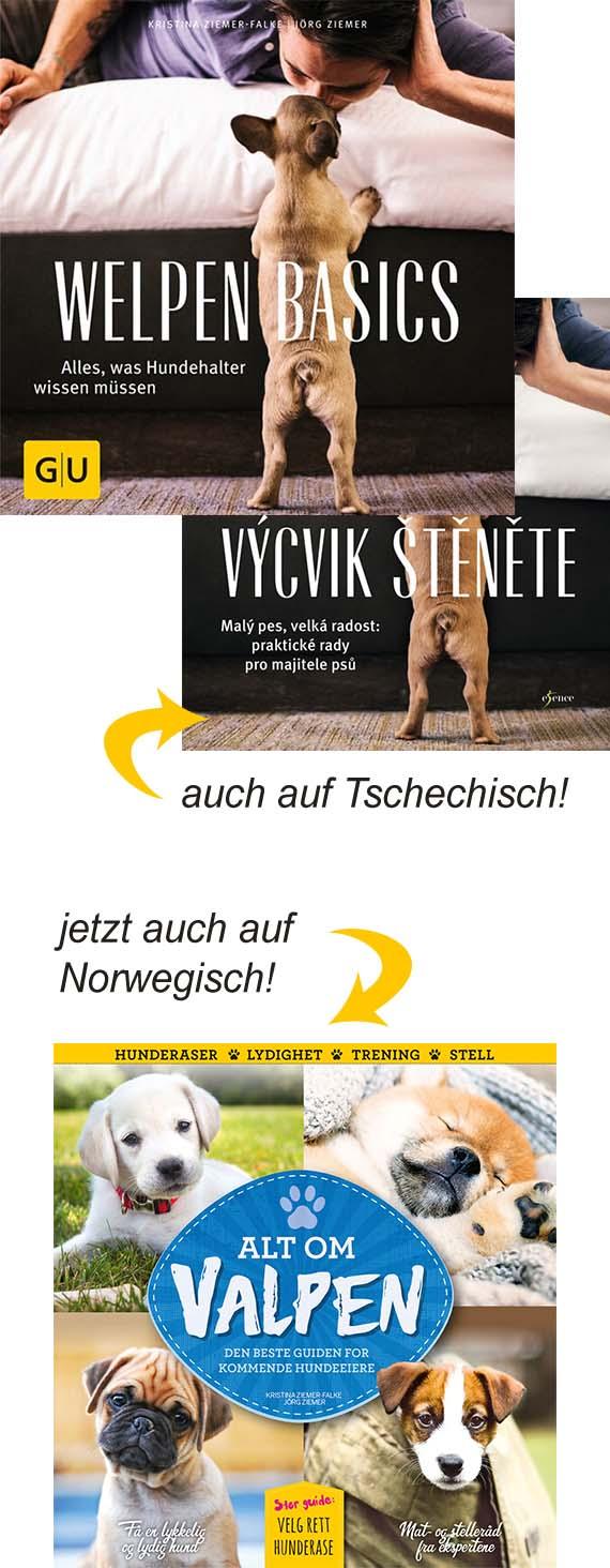 Welpen Basics - deutsche, tschechische und norwegische Ausgabe